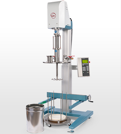 The CHS vacuum system is designed for mixing and dispersing products in thin-walled and disposable containers.